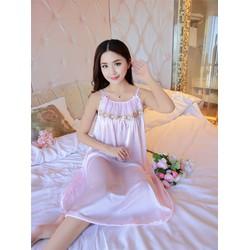 Đầm ngủ thun lụa DN354