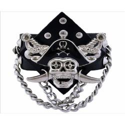 vòng đeo tay đầu lâu hải tặc cá tính thời trang