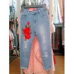 quần baggy hoa