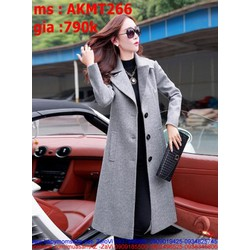 Áo khoác dạ nữ măng tô có túi sang trọng và thời trang AKMT266