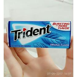 Kẹo cao su Trident Original Flavor - Vị bạc hà đặc trưng