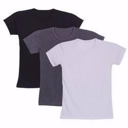 Combo 3 áo thun trơn nam cổ tròn cotton 4 chiều cao cấp