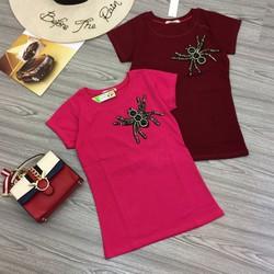 Áo thun tag con nhện tay con hàng thiết kế