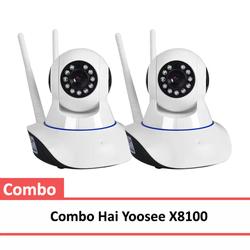 Bộ 2 Camera IP wifi Yoosee X8100 xoay 360 độ có hồng ngoại