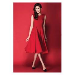 Đầm Xòe Vintage Xếp Ly Đẹp Như Tăng Thanh Hà