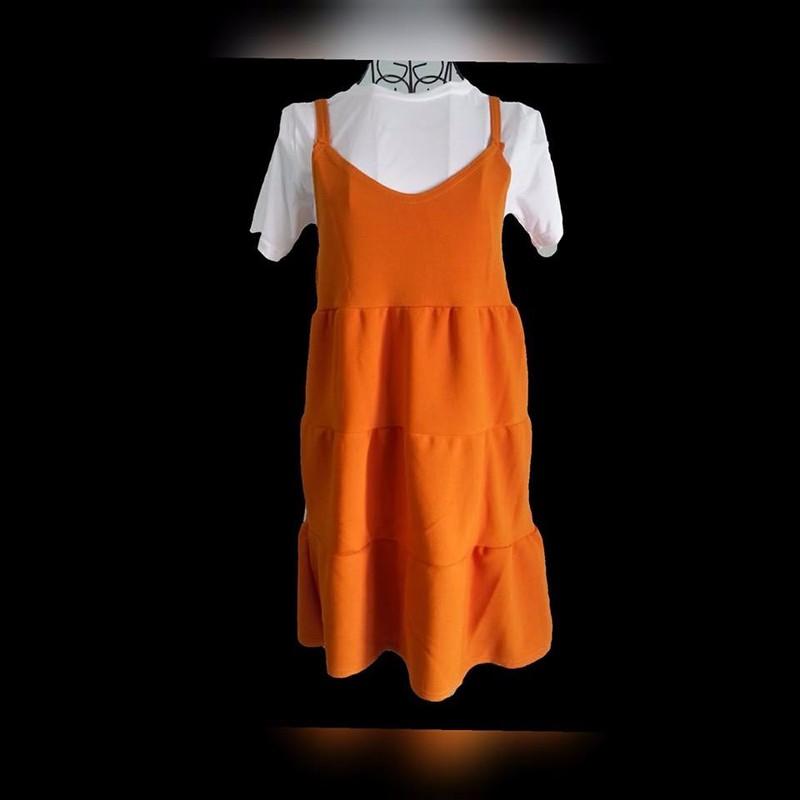 Set áo thun yếm tầng 1