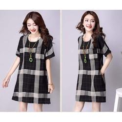 Đầm suông caro thời trang cao cấp nhập khẩu - D5829