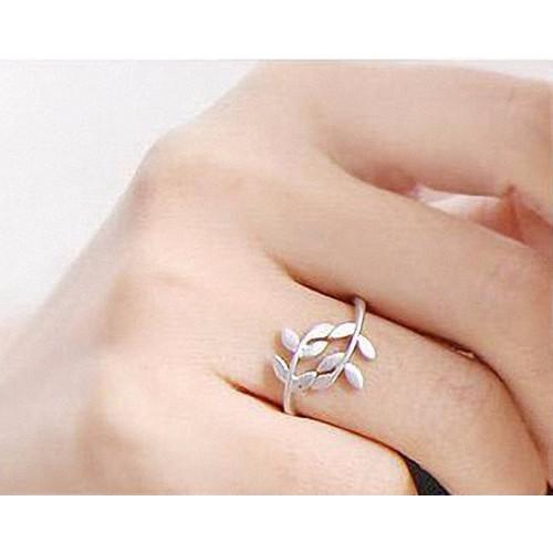 Nhẫn nữ hình lá xinh xắn N08