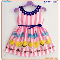 Đầm kate sọc họa tiết cupcake xinh xắn và mát mẽ ngày hè