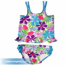 Đồ bơi cho bé gái hình cá và hoa