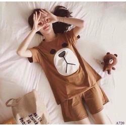Bộ đồ mặc nhà nữ in hình gấu kute