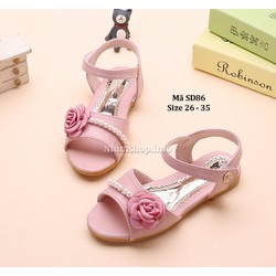 Sandal cho bé gái từ 3 - 10 tuổi kiểu dáng Hàn Quốc SD86