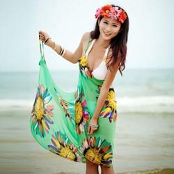 khăn voan đi biển