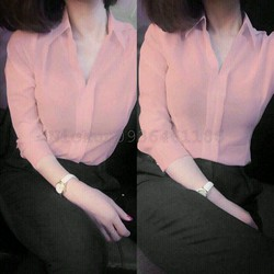 áo sơ mia cổ đức nẹp V
