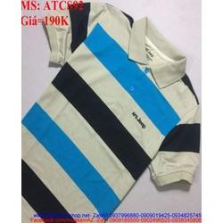 Áo thun nam cổ bẻ sọc màu trẻ trung khoe vẻ năng động ATCS92