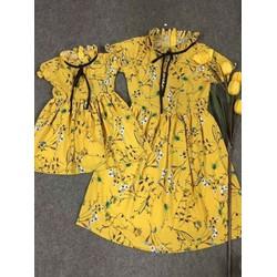 Set váy mẹ bé hàng thiết kế cực chuẩn