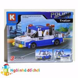 Mô hình lắp ghép xe cảnh sát tuần tra trailer