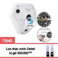 Camera IP VR CAM 3D quay 360 độ tặng Loa nước nháy theo nhạc