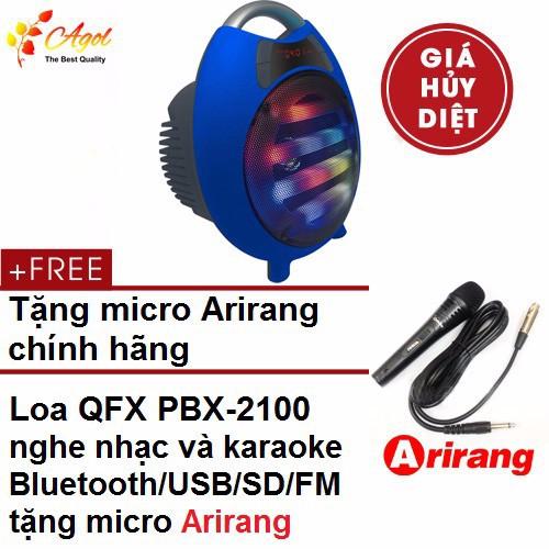 Loa kéo karaoke QFX PBX-2100 tặng micro arirang chính hãng 1