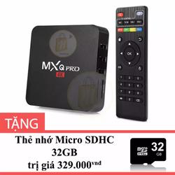 Android TV Box MXQ Pro 4K Tặng Thẻ nhớ Micro SD 32Gb