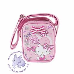 Túi đeo chéo bé gái hình HELLO KITTY. Made in Thailand.