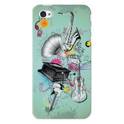 Ốp lưng điện thoại Apple Iphone 4 - Music