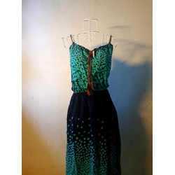 Đầm maxi xanh bướm