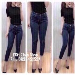 Quần jean nữ xanh đen
