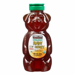 Mật ong Kirkland Signature Raw Organic Honey Bear, 680g