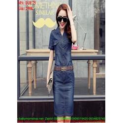 Đầm jean ôm kiểu dáng sành điệu sang trọng DJE75