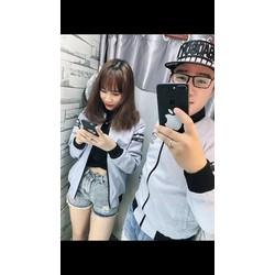Áo khoác đôi viền đen style korea phong cách