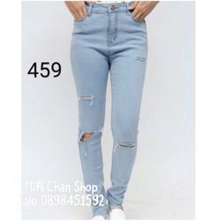 Quần jean màu nhạt