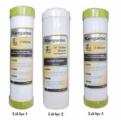 Bộ 3 chiếc lõi lọc nước số 1,2.3 dành cho máy lọc nước Kangaroo