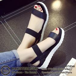 Giày sandal nữ đen trắng trẻ trung năng động