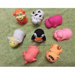 Đồ chơi nhà tắm elegant baby phun nước 8 thú cao su đồ chơi giáo dục