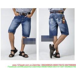 Quần short jean nam wash phong cách bụi bặm cá tính QSEN2