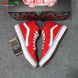 Giày Van đỏ cao cổ nam Việt Nam Fullbox