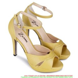 Giày cao gót kiểu quai hậu hở mũi sành điệu nổi bật GCG115