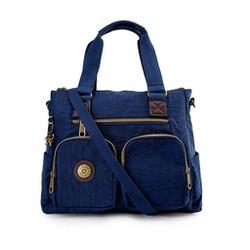 Túi xách hai hộp Kipling vải wax màu xanh