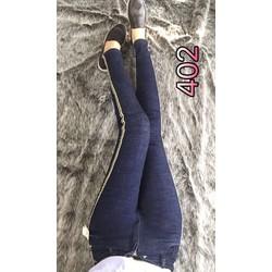 Quần jeans viền co dãn chuẩn phom