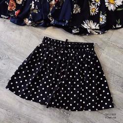 quần shorts chấm bi xếp ly siêu xinh-Hàng Qc