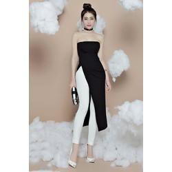 Áo quần kiểu áo dài và quần ôm kiểu dáng mới lạ