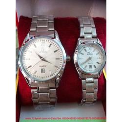 Đồng hồ cặp tình nhân inox đính hạt yêu thương ý nghĩa DHTN96