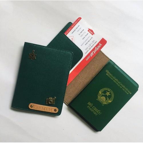 Passport Cover Khắc Tên Miễn Phí