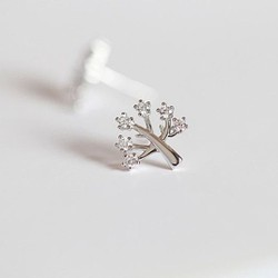Bông tai cây đính đá, hoa tai, trang sức, phụ kiện