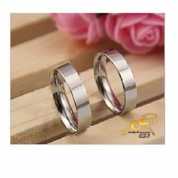 Nhẫn cặp đôi inox trơn - bóng , hàng chất lượng đẹp giá rẻ