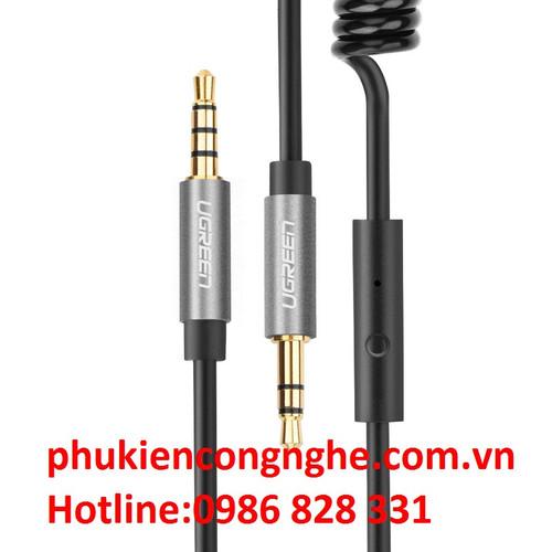 Cáp Audio 3.5mm dây lò xo 1m có míc chính hãng Ugreen 20706