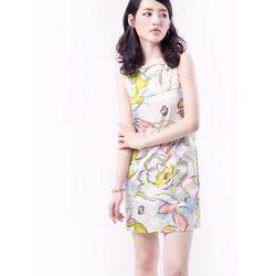 Đầm suông hoạ tiết hoa cực dễ thương