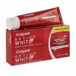 Set 2 tuýp Kem đánh trắng răng Colgate Optic White Sparkling White