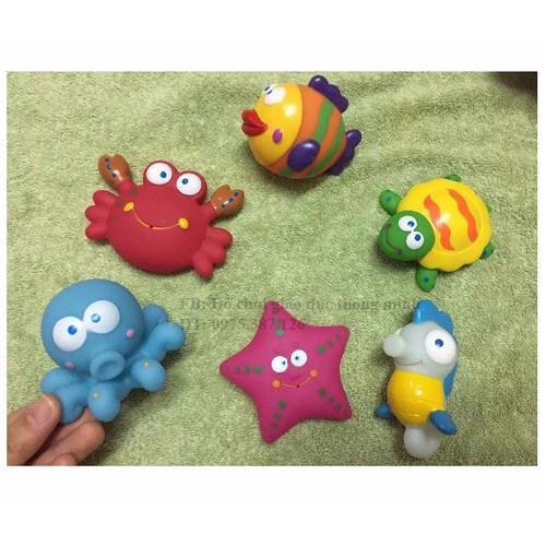THANH LÝ XẢ KHO đồ chơi nhà tắm set 6 động vật biển